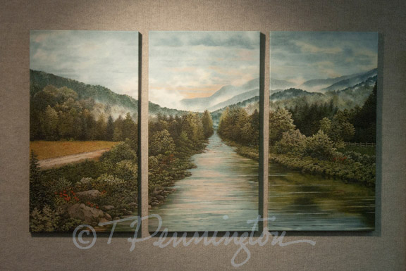 Up River -- triptych